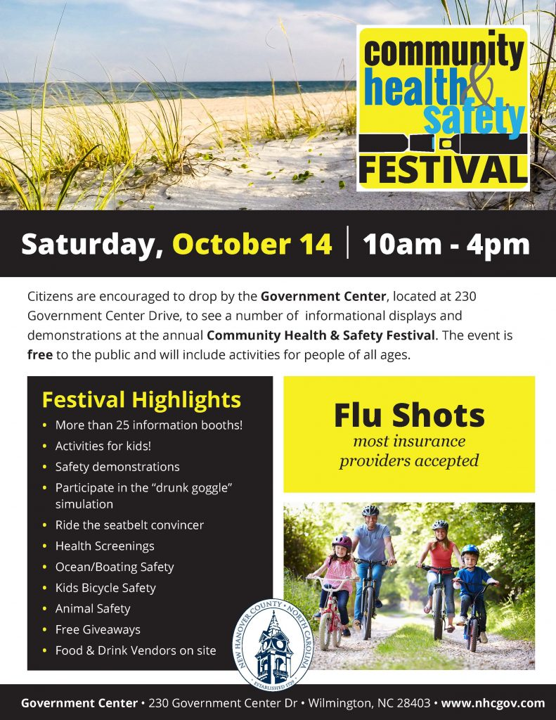 Community Health & Safety Festival @ New Hanover County Government Center | Wilmington | North Carolina | United States