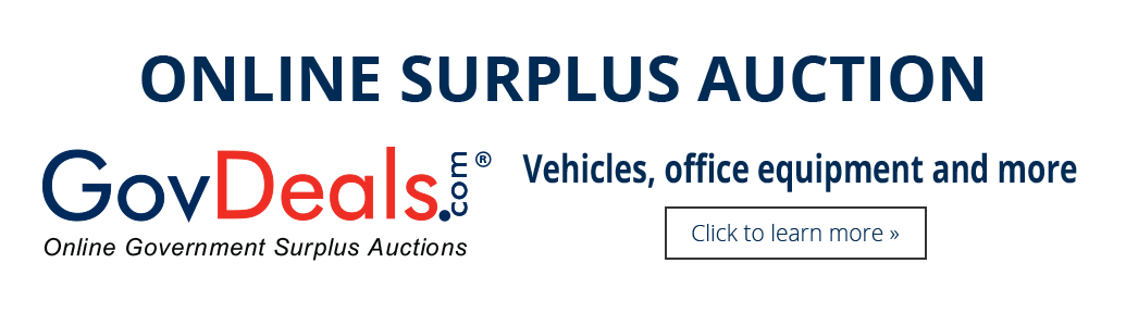Online Surplus Auction-Vehicles, Office Equipment, & more - Click to learn more
